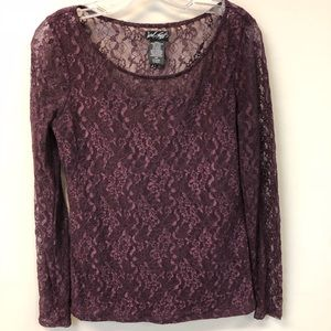 Lord & Taylor Long sleeve lace blouse